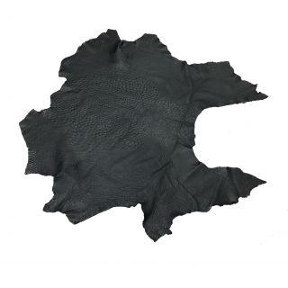 Körperleder vom Strauß schwarz - ausschnitt
