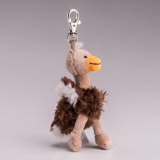 Schlüsselanhänger / Taschenschmuck Plüsch-Strauss ca. 12cm hoch