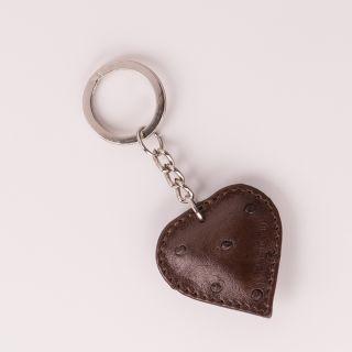Schlüsselanhänger Herz in braun